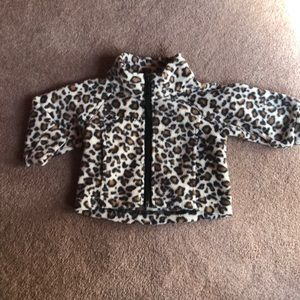 Baby Leopard Columbia fleece zip up